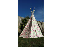 Garden Games Flower and Butterfly Play Tent Wigwam