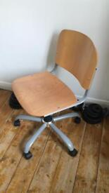Office desk chairs. Adjustable in height