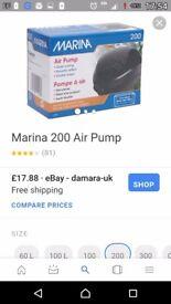 Marina 200 duo twin air pump