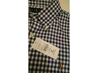 Blue Checkered Ralph Lauren Shirt - New in Large!