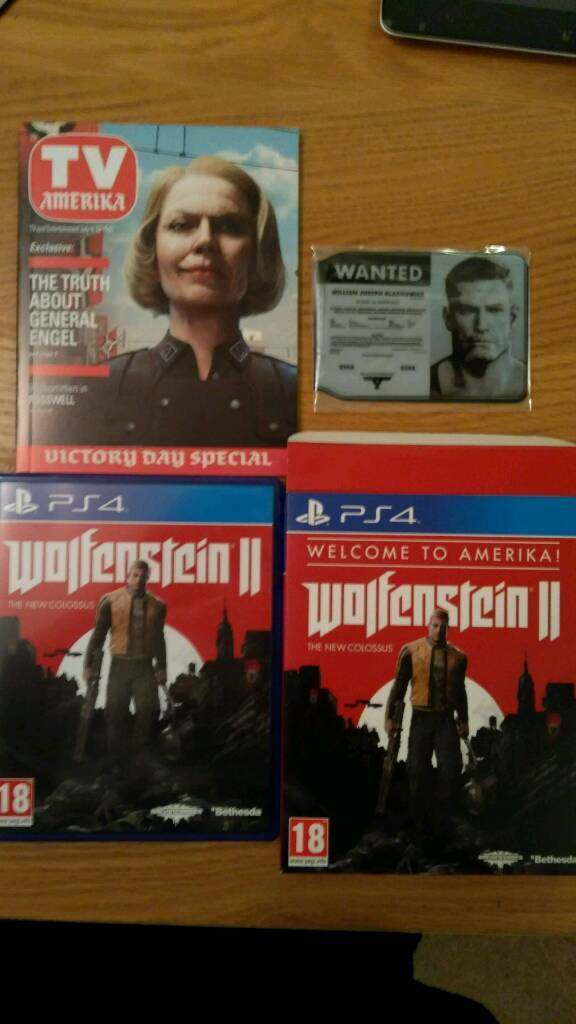 Wolfenstein 2, The new Colossus, special edition 'Welcome to Amerika'