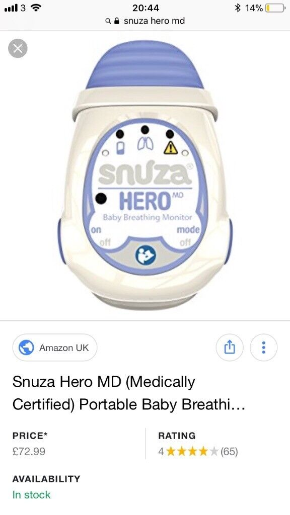 Snuza Hero Md Baby Breathing Monitor Baby Safety & Health