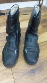 Ladies black motor bike boots. Size 38 / 4