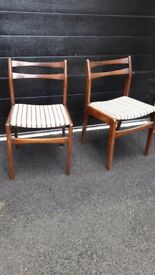 Two chairs in good condition - suitable for upcycling