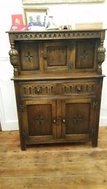 Antique dark oak dresser,polished tops, no scraches