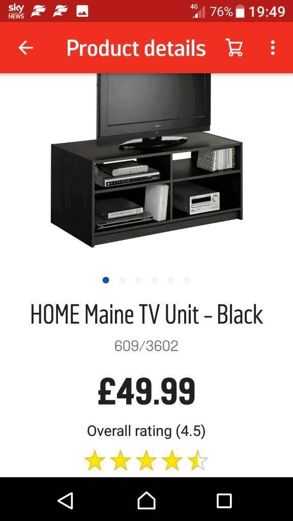 Black wood tv stand / unit