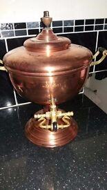 Copper tea urn