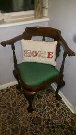 Beautiful chippendale Design Victorian Style Corner Chair Mahogany
