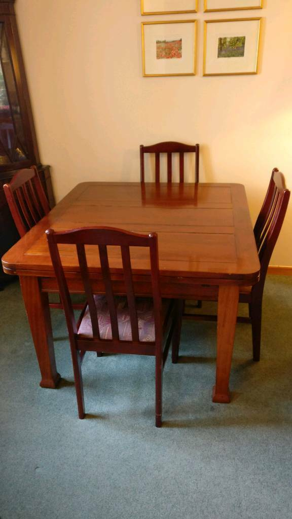 8 seater dining room table and chairs   Free 8 seater extendable solid mahogany dining room table ...