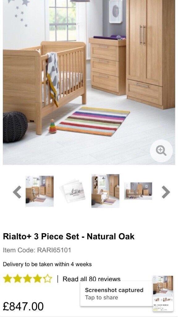 Mamas and Papas 3 piece nursery set (and mattress) Brand new and unopened
