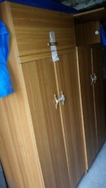 Two wardrobes (2 doors) is in good condition for sale.