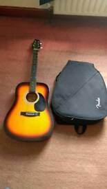 Stagg Acoustic Guitar With Fender Padded Case