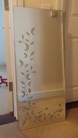 """Large Damask Floral Mirror (100cm x 45cm / 39"""" x 18"""")"""