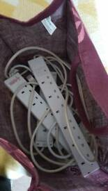 3 six plug extension cables