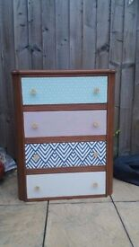 Quirky uocycled chest of drawers