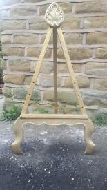 Antique Vintage Artists Easel Picture Stand Gilt Gilded Gold Wood Art Wedding Prop Display