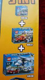 Brand New TRIPLE SET LEGO City Police Super Pack 66550 3 in 1 (Includes 60136 60137 60138).
