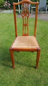 Solid Oak 4 chairs
