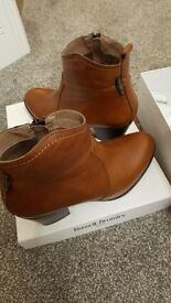 Russell and Bromley Tan Ankle Boots. Immaculate