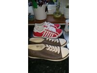 Two pairs of trainers