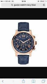 Guess Gents Horizon blue strap chronograph watch