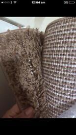 Brand new shaggy beige rug 230/150