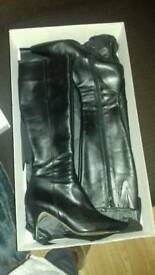 Jones Black Knee High Boots