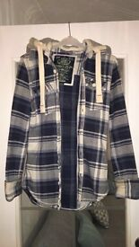 Superdry Hooded Shirt Size Small