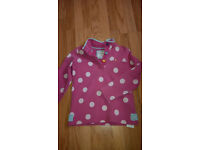 Joules Girls Long Sleeve Top - Age 9-10yrs EXCELLENT CONDITION