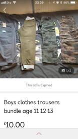 Boys clothes bundles age 11-12-13