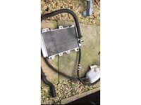 Gilera runner radiator set and pipes