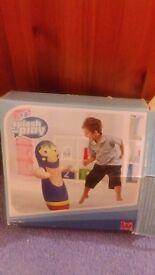 Childrens punch bag bounce back wrestler toy