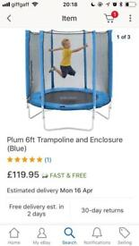Wanted 6 or 8ft trampoline with net