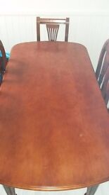 Soild wood Dining table & 6 chairs
