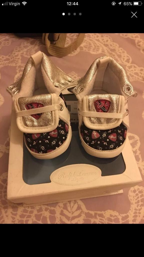 Ralph Lauren Baby shoes size 2,5