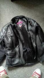 Motor bike leather