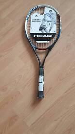 Head metallix crystalline alloy tennis racket