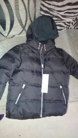 F&F Black Puffer Jacket. 5-6 years. New with Tags
