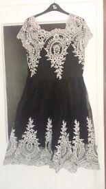 Size XL/14 Black and White Dress.