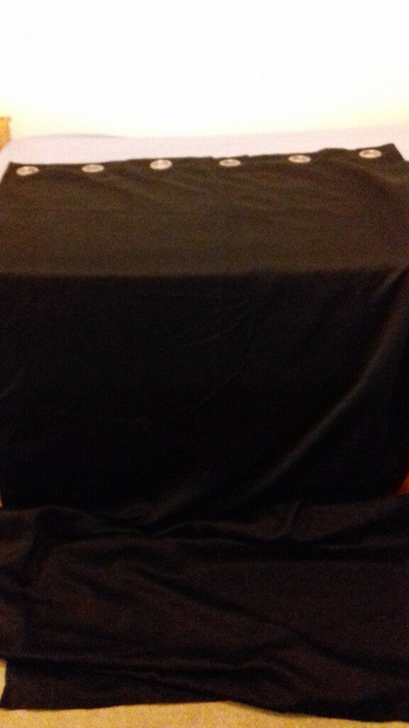 Black curtains (2) + Pole