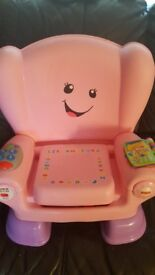 Pink Fisher Price Laugh & Learn Smart Chair