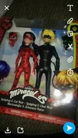 Bnib, ladybug and cat noir figures £38
