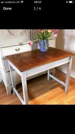 Vintage painted laboratory table