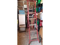 Red 5 tread step ladder