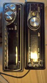 2 jvc stereos