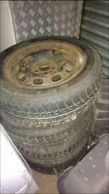 Winter wheels 205/60r15 to fit vw audi seat skoda