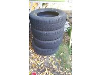 Set of 4 BF Goodrich Winter Tyres