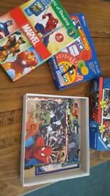 Puzzle, books and word bingo