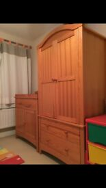 Laura Ashley Baby / Toddler Wardrobe and Cupboard with Changing Surface - VERY GOOD Condition