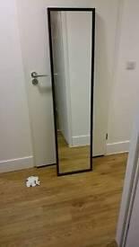 Stave mirror ikea black wood frame